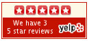 Yelp rating for Detensor back pain treatment